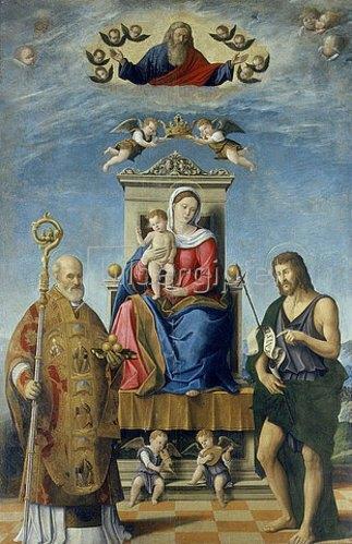 Fabrizio Santafede: Madonna mit Kind und dem Heiligen Nikolaus und Johannes dem Täufer.