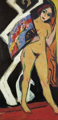 Ernst Ludwig Kirchner: Dodo mit großem Fächer. 1910