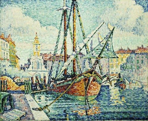Paul Signac: Der Hafen von St. Tropez. 1923