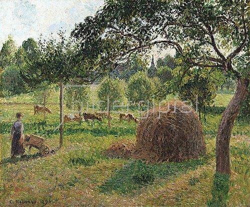 Camille Pissarro: Ein bedeckter tag in Eragny. 1896