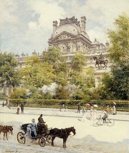 Jean Béraud: La Place du Louvre. 1902