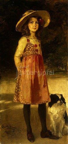 Friedrich August von Kaulbach: Bildnis von der Tocher des Künstlers, Hilde. 1913