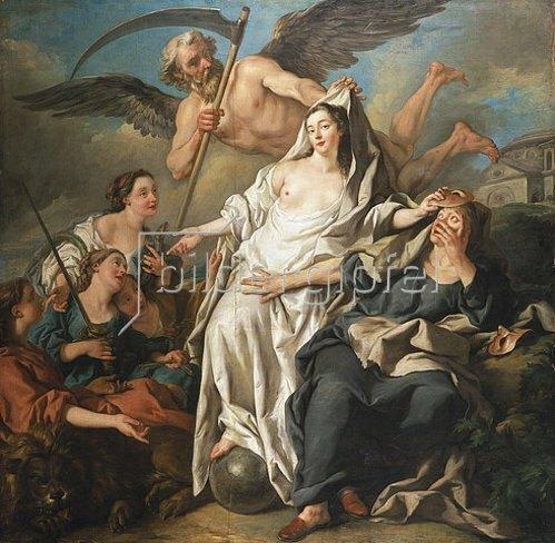 Jean François de Troy: Die Zeit, die die Wahrheit enthüllt. 1733