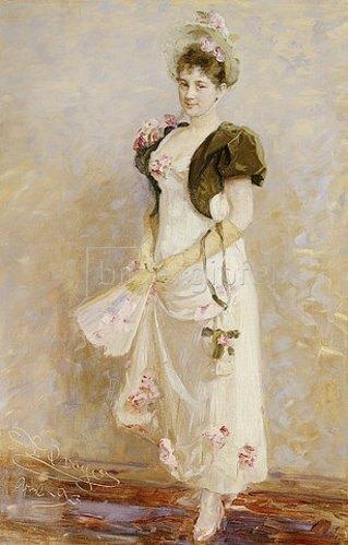 Peter Severin Kroyer: Portrait von Emma Thomsen. 1893