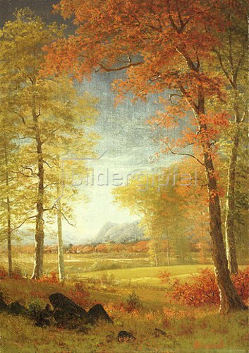 Albert Bierstadt: Herbst in Oneida County, New York.
