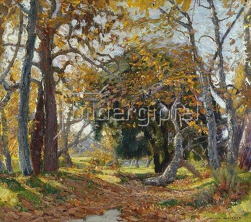 Joseph Kleitsch: Herbst im Canyon. 1923