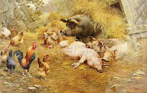 Herbert William Weekes: Glückliches Tierleben.