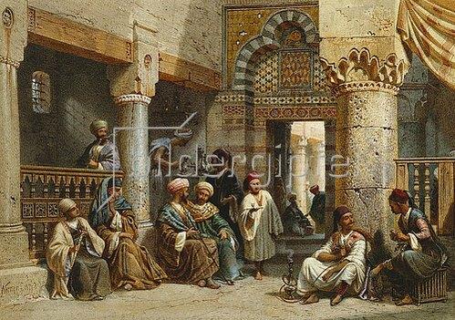 Carl Friedrich Heinrich Werner: In einem arabischen Kaffeehaus. 1870