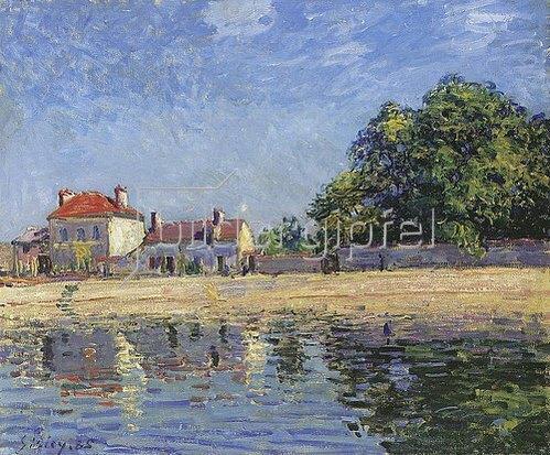 Alfred Sisley: Am Ufer des Loing, Saint-Mammes. 1885