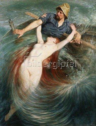 Knut Ekvall: Ein Fischer in den Fängen einer Sirene.