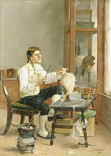 Louis Jimenez y Aranda: Der Perückenmacher. 1889