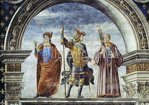 Domenico (T.Bigordi) Ghirlandaio: Publius Decius Mus, Scipio und Cicero.
