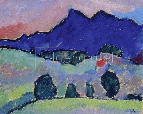 Alexej von Jawlensky: Blauer Berg. 1910