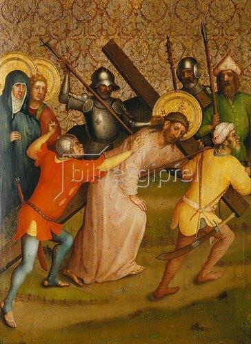 Meister des Heisterbacher Altars: Kreuztragung Christi.