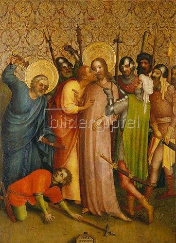 Meister des Heisterbacher Altars: Gefangennahme Christi.