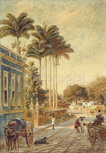 Bernhard Wiegandt: Straße in Rio de Janeiro. 1879