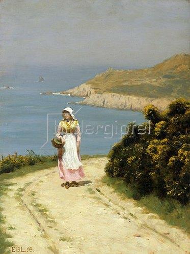Edmund Blair Leighton: Weg an den Klippen. 1893