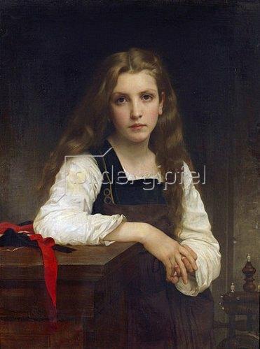 William Adolphe Bouguereau: Die kleine Spinnerin.