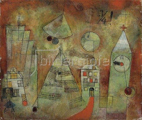 Paul Klee: Schicksalstunde um dreiviertel zwölf. 1922