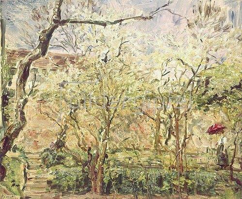 Max Slevogt: Blühende Bäume. 1921