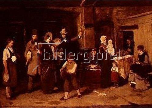 Mihály Munkácsy: Skizze zum Gemälde Das Leihhaus. 1871- 1873.