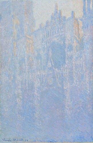 Claude Monet: Die Kathedrale von Rouen im Morgennebel (Le portal, brouillard matinal). 1894