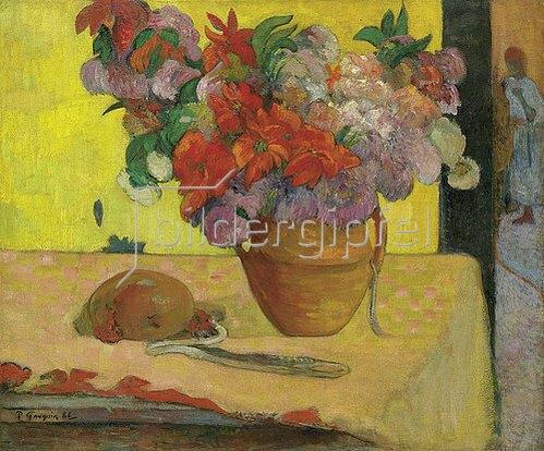 Paul Gauguin: Blumen in einer Vase und eine Feldflasche. Nach 1891