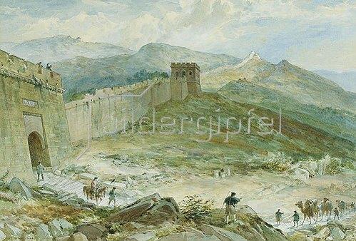 William Simpson: Die Chinesische Mauer. 1891