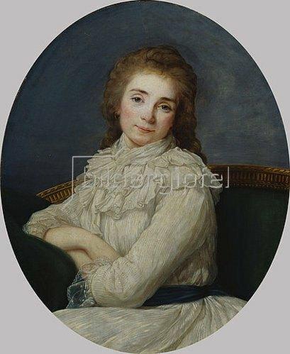 Angelika Kauffmann: Portrait einer Dame in einem weißem Kleid.