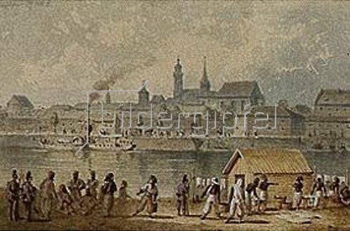 Joseph Anton Weiss: Zuaven-Waschhaus in Ingolstadt. 1870.