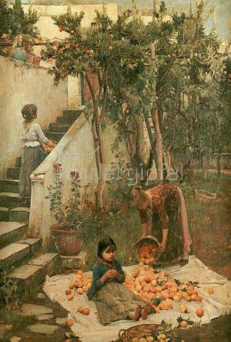 John William Waterhouse: Die Orangenpflücker.