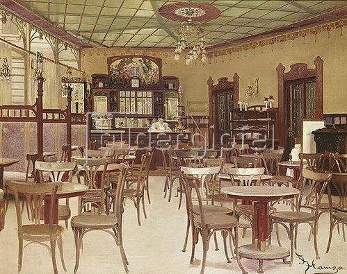 Johann Hamza: Das Café Beethoven in Wien.