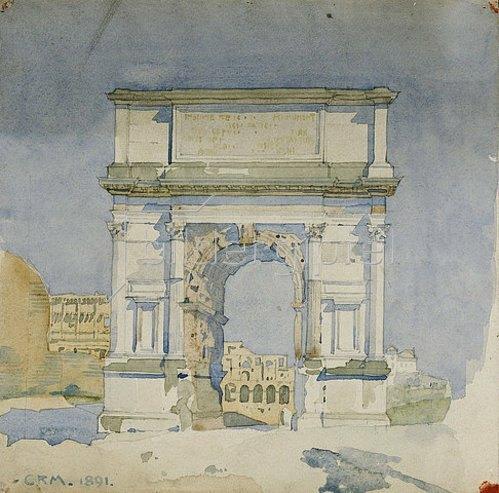Charles Rennie Mackintosh: Der Titusbogen in Rom. 1891