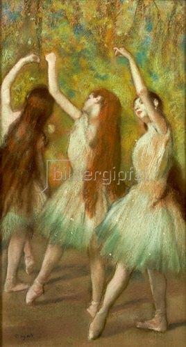 Edgar Degas: Tänzerinnen in Grün. 1878