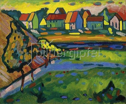 Wassily Kandinsky: Bayerisches Dorf mit Feld. 1908