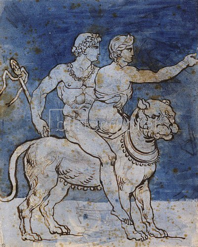 Théodore Géricault: Bacchus und Ariadne auf einem Leoparden.