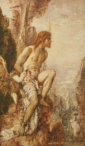 Gustave Moreau: Die Strafe des Prometheus.