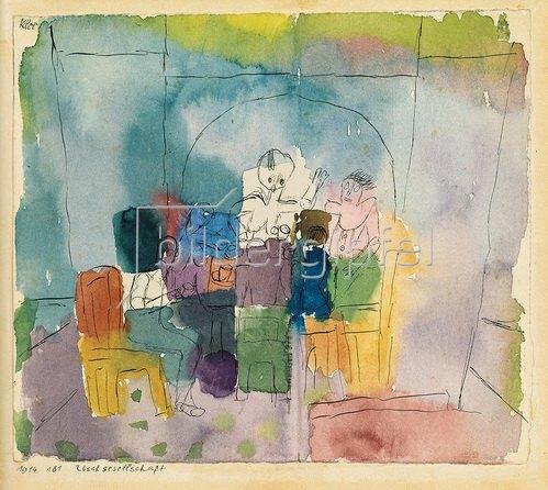 Paul Klee: Tischgesellschaft. 1914