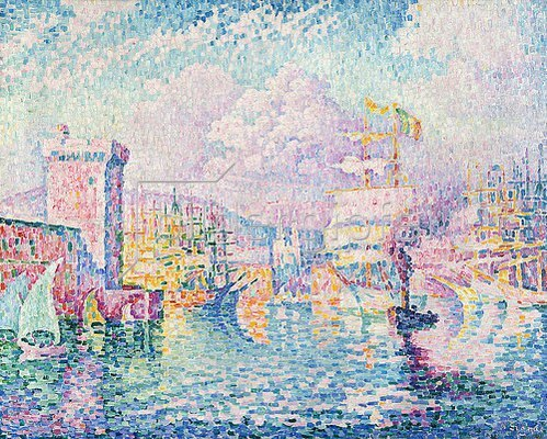 Paul Signac: La Tour Rose, Marseille.