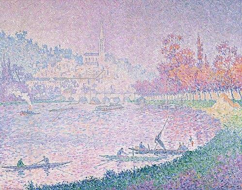 Paul Signac: Die Seine bei Saint-Cloud. 1900