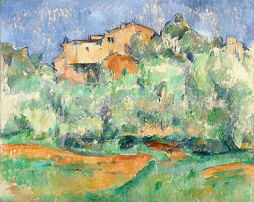 Paul Cézanne: Haus auf bewaldeter Anhöhe mit Taubenschlag. 1890