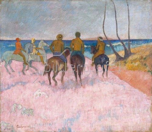 Paul Gauguin: Reiter am Strand (I) (Cavaliers sur la plage). 1902