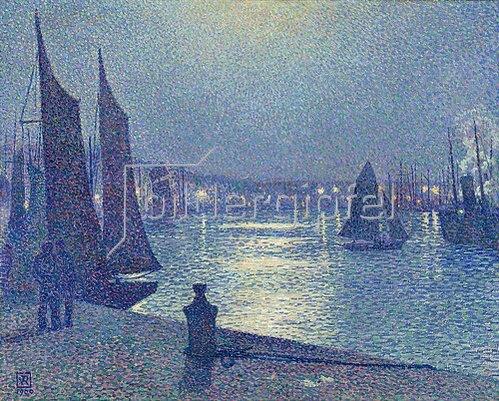 Theo van Rysselberghe: Mondnacht in Boulogne-sur-Mer.