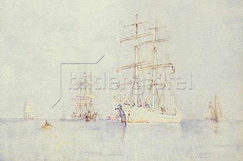 Henry Scott Tuke: Schiffe vor Anker. 1914