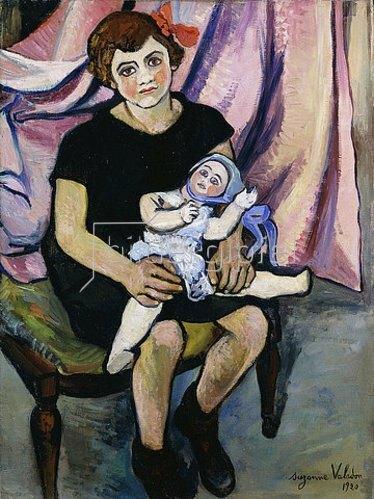 Suzanne Valadon: Mädchen mit einer Puppe. 1920