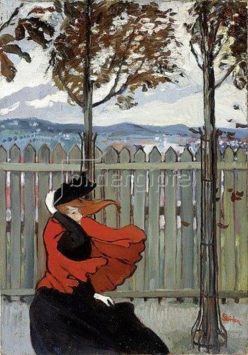 Théophile-Alexandre Steinlen: Der Windstoß. Um 1895-96