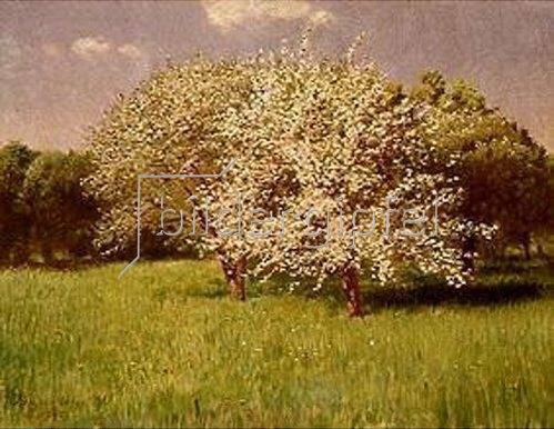 Pál Szinyei-Merse: Blühende Bäume.