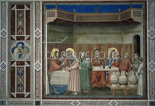 Giotto di Bondone: Die Hochzeit zu Kanaa. Um 1305