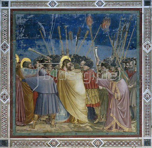 Giotto di Bondone: Der Judaskuss. Um 1305