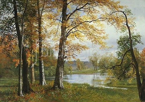 Albert Bierstadt: Ein ruhiger See.